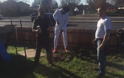 ABC10: Kings rookie Marvin Bagley III plants trees in Oak Park Art Garden